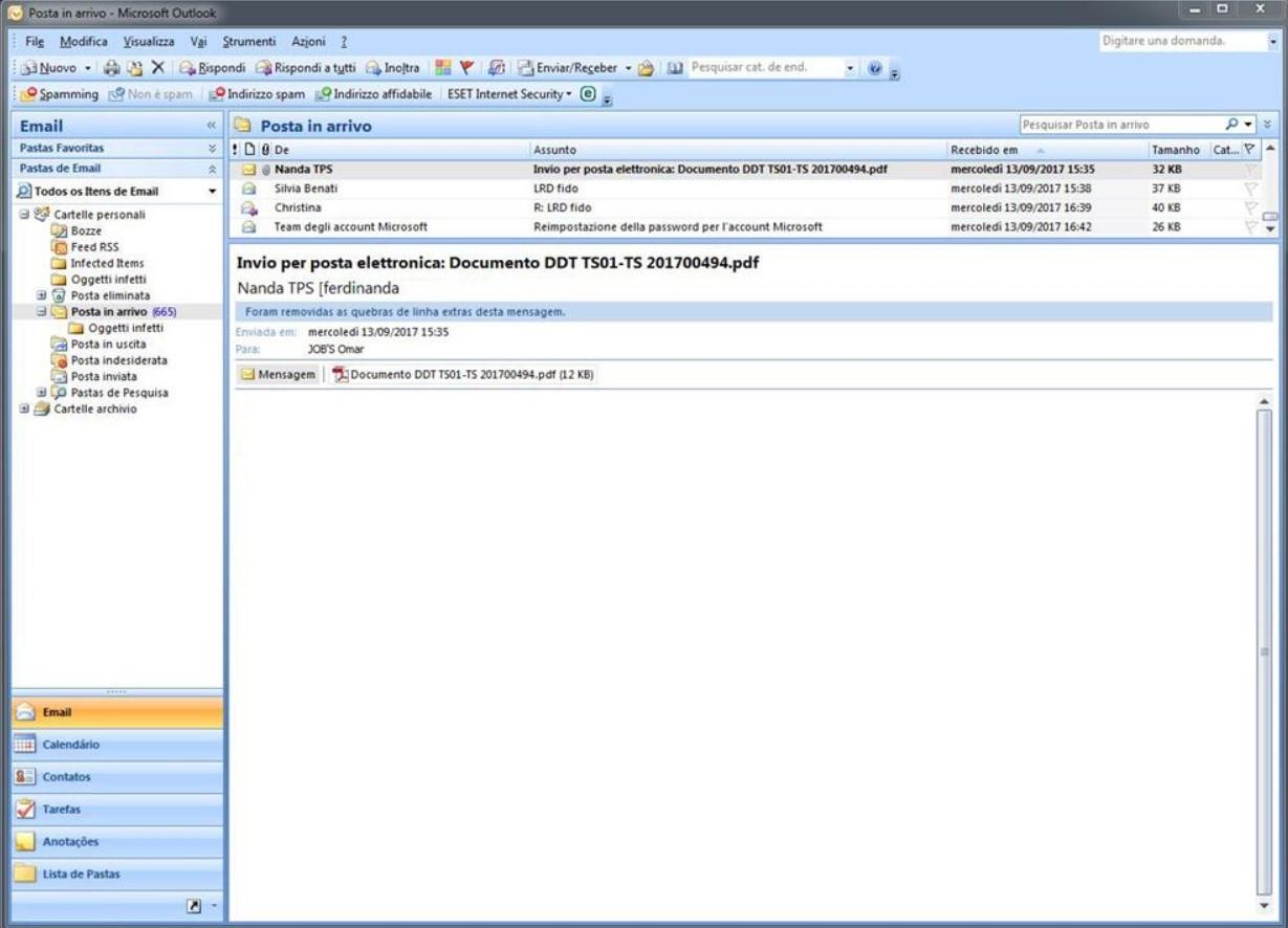 Outlook em dois idiomas