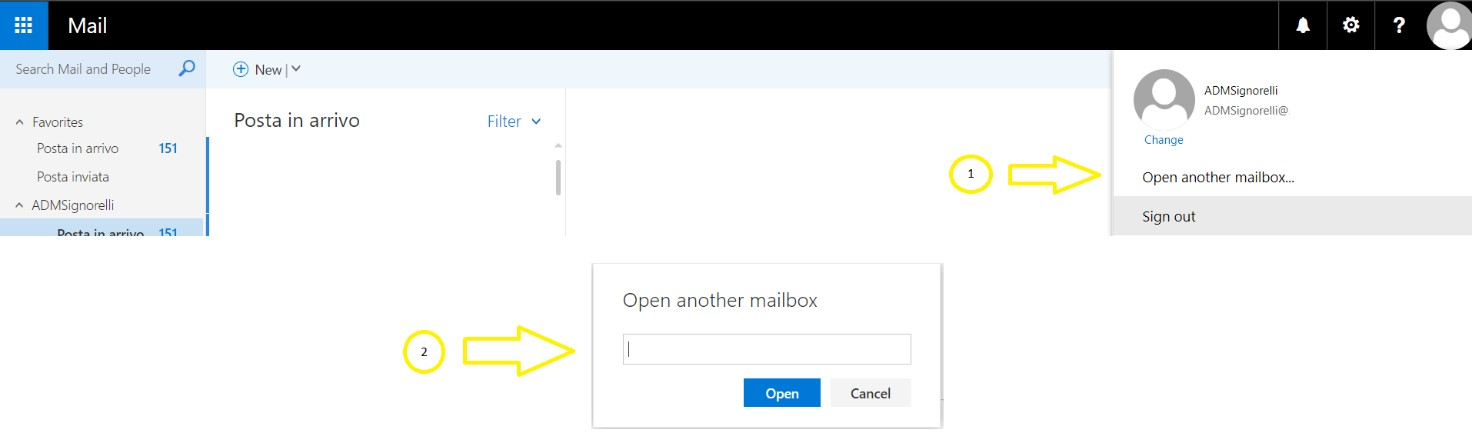 Open mailbox OWA