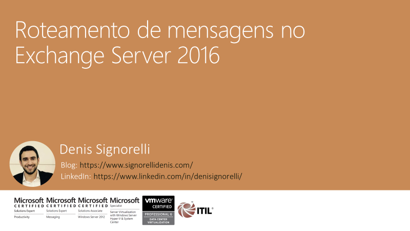 Roteamento de mensagens no Exchange Server 2016