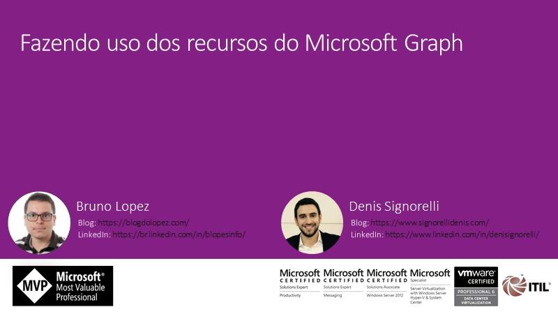 Fazendo uso dos recursos do Microsoft Graph