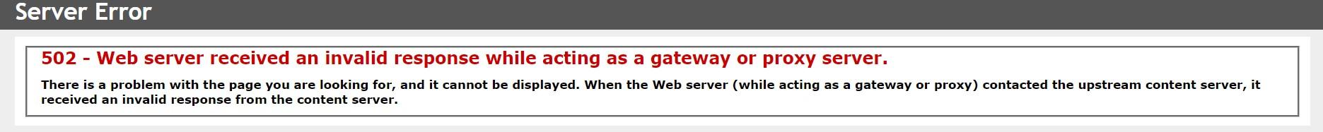 HTTP 502
